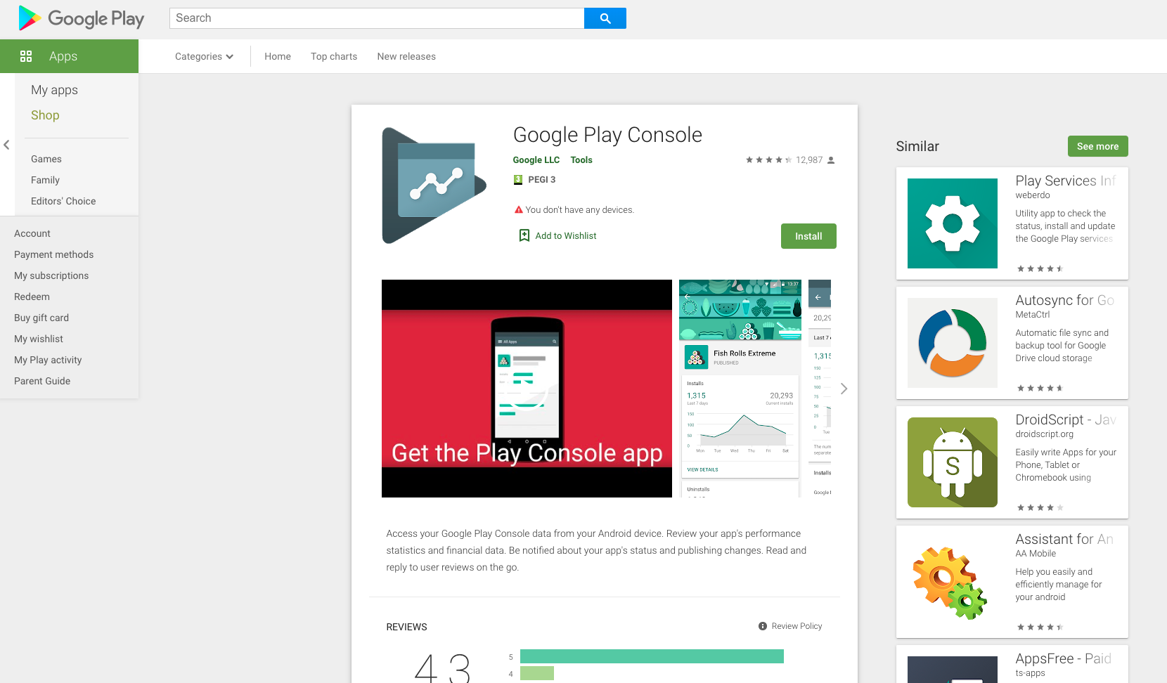 Creazione di un account sviluppatore Google