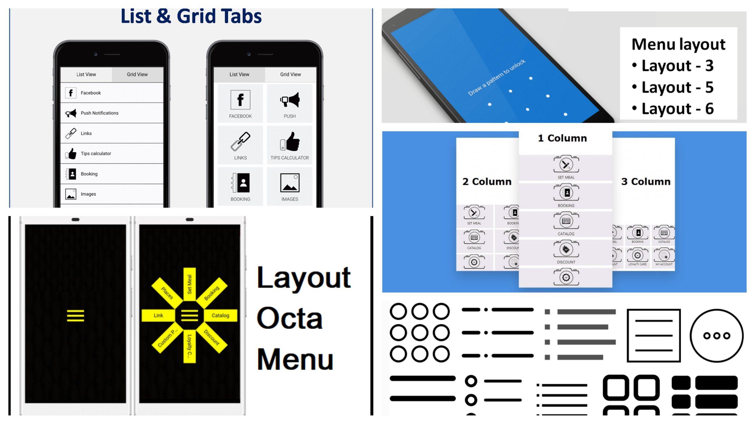 Creare un'app: Sono Disponibili 5 nuovi Layout Gratuiti per creare la tua app.